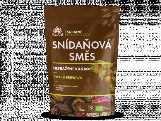 Snídaňová směs nepražené kakao BIO