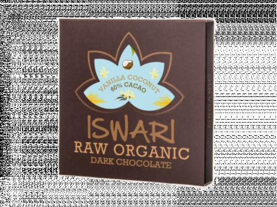 Čokoláda Dark Vanilla Coconut 60 % BIO Raw